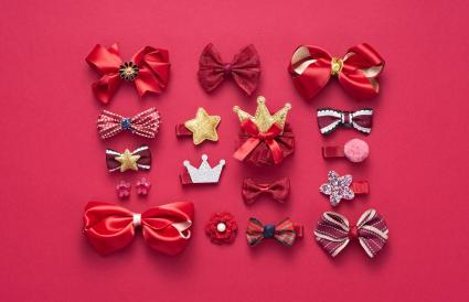 Red Colored Hair Accessory Collection