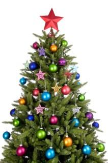 image of a fully decorated christmas tree