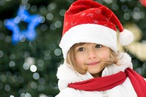 girl ready for Christmas