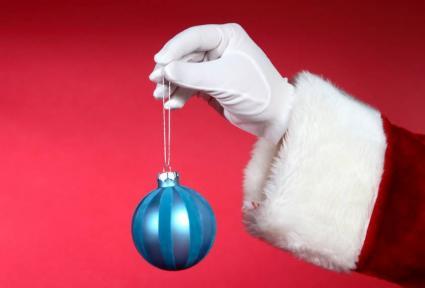 Father Christmas's hand