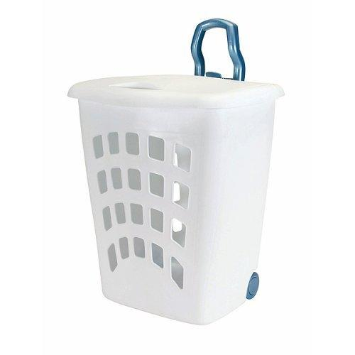 Plastic Laundry Basket With Wheels And Handle Interior