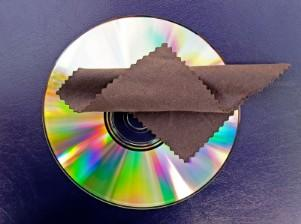 DVD and microfiber cleaning cloth