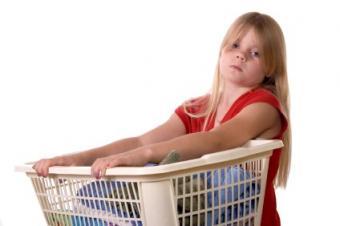 wheeled laundry basket