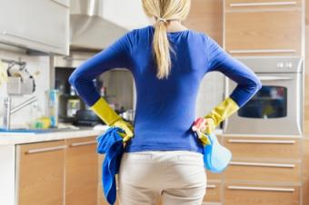 Wear gloves when cleaning mold.