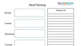 weekly meal planning organizer