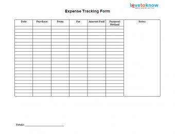 business expense tracking form