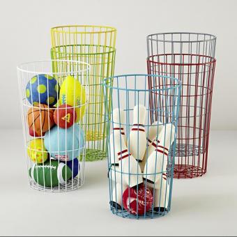 wire ball bins