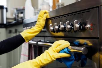 cleaning oven handles