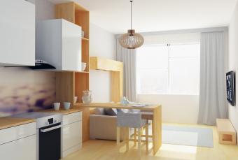modern kitchen/dining