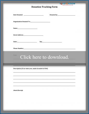 Donation Tracking Expense Form