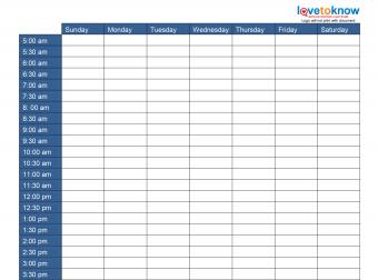 Weekly Schedule Template Thumbnail