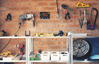 Garage used as tools area