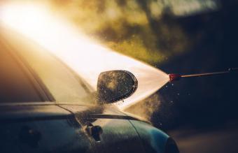 Close-Up Of Car Wash