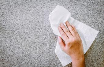Cleaning With Tissue Paper