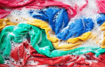 Colorful Laundry In Water