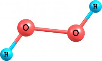 Hydrogen peroxide molecular structure