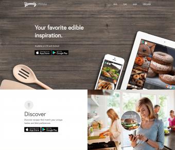 Screenshot of Yummly home page