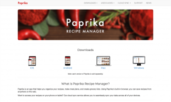 Screenshot of Paprika App