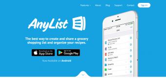 Screenshot of AnyList