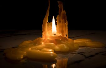 burned down candle