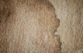 dirty doormat with stain