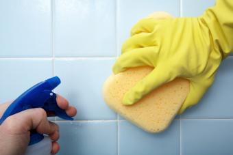 Cleaning Tile In The Bathroom