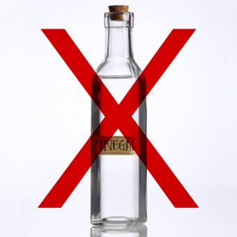 don't use vinegar
