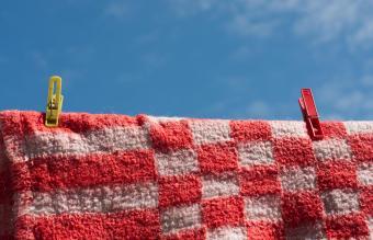 fleece blanket drying