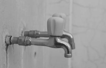 tarnished chrome tap
