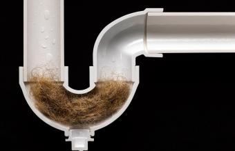 Hair Ball Clog in Drain Pipe