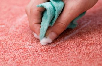 cleaning red carpet