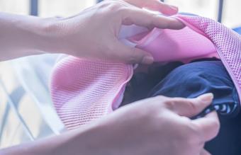 Silk fabrics in laundry bag