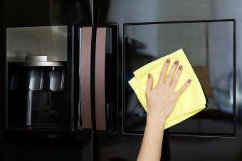 Cleaning Black stainless Refrigerator