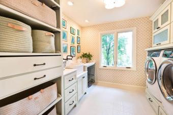 Organized Laundry Utility Room