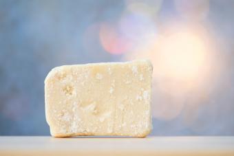 Piece of homemade soap