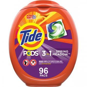 Tide Pods Spring Meadow 96 Ct, Laundry Detergent Pacs
