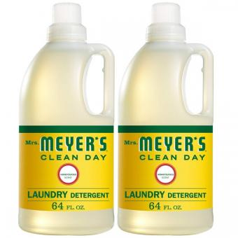 Mrs. Meyer's Clean Day Liquid Laundry Detergent, Honeysuckle Scent, 64 Ounce, 2 Pack
