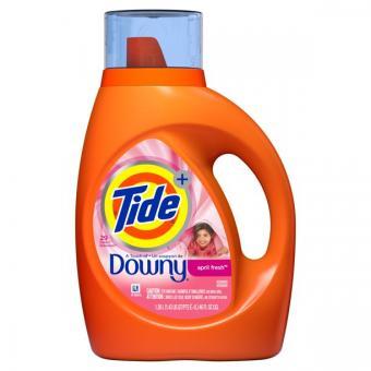 Tide Plus Downy April Fresh Scent Liquid Laundry Detergent, 46 oz, 29 Loads