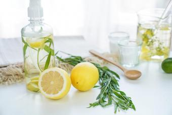 Homemade cleaner's natural ingredients