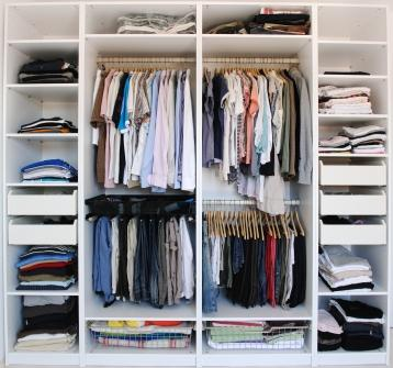 Shelving can help with closet organization