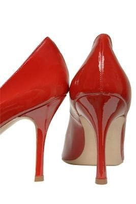 High heel patent leather shoes