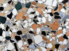 Terrazzo flooring is easy to clean.