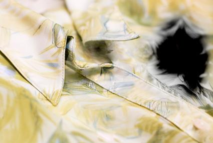 Ink stained silk blouse; copyright Alexey Novikov at Dreamstime.com