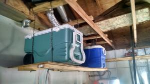 Garage Rafter Shelves