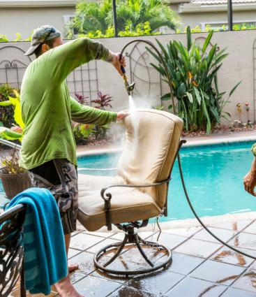 Cleaning Patio Chair