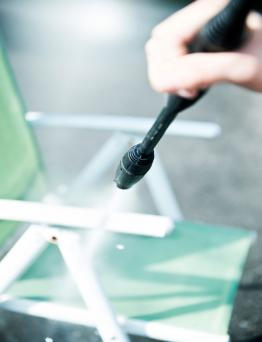 Cleaning plastic chair