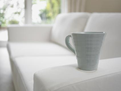 coffee cup on sofa