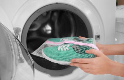 Putting sneakers into washing machine