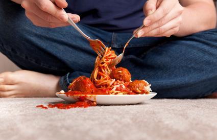 Tomato stains on carpet