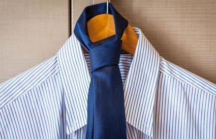 Necktie Hanging On Coathanger